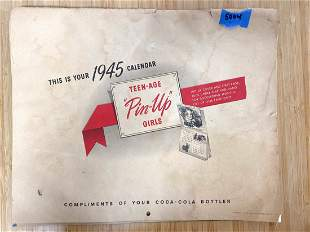 HTF Rare Find 1945 Coca Cola Teenage Pinup Girls
