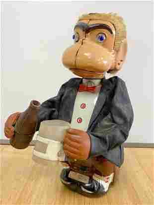 1939 Jocko LineMar Japan Wind Up Toy Monkey