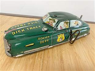 1940s Dick Tracy Police Car Wind Up Car No 1