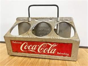 Coca Cola Metal Bottle Carrier 1950s