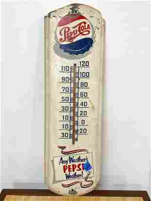 Old Pepsi Cola Bottle Thermometer M165