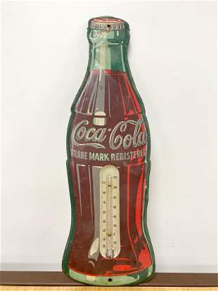 Old Coca Cola Bottle Shape Thermometer