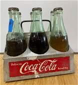 Rare Coca Cola Ginger Ale 6pk w Metal Carrier
