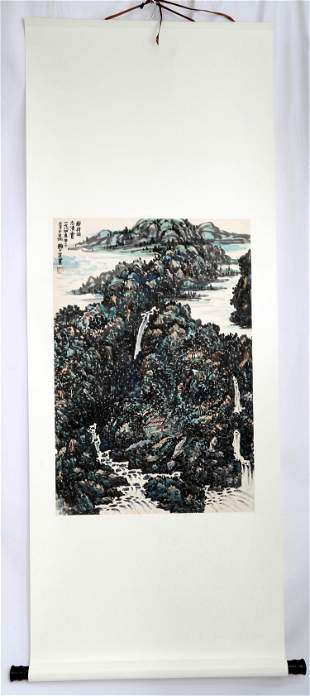 SIGNED LAI SHAOQI (1911-2000). A INK AND COLOR ON PAPER
