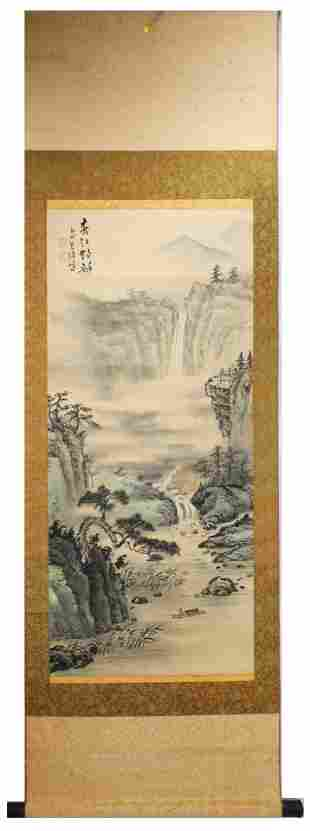 SIGNED XU SHAOFENG.A INK AND COLOR ON SILK HANGING