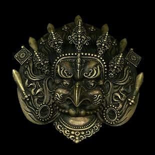 Tibetan bronze bird mask