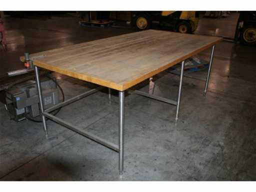 1784 4x8 Wooden Bakery Table