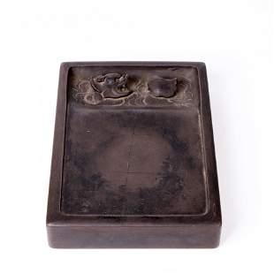 19th Century Dragon Head Duan Inkstone