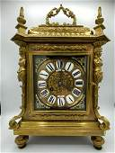 Antique French Lerolle Freres Paris Gilt Bronze Clock