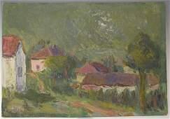 Jan Cybis Oil Painting (POLISH 1897-1972) Green Sky