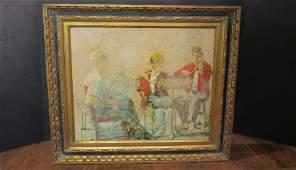 Edna Glaubman Orchestra Framed Acrylic Painting