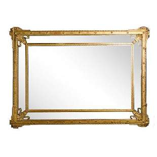 A large French gilt wood mirror circa 1870