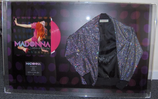2: MADONNA framed Rhinestone Jacket and Record