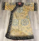 Rare Antique Chinese Silk Butterflies Informal Robe