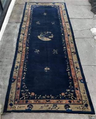 Large Antique Chinese Peking Rug 16 feet x 6 feet