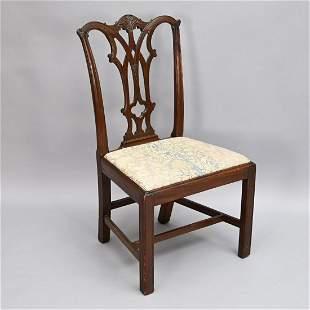 Philadelphia Chippendale Mahogany Side Chair