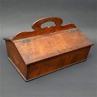 19th C. Mahogany Lift-top Candlebox