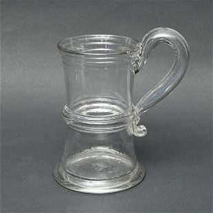 Free Blown Colorless Glass Tankard