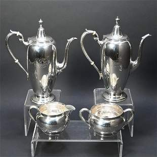 Pair Of American Sterling Silver Coffee Pots