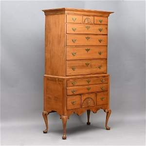 New Hampshire Queen Anne Maple Highboy