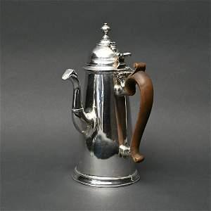 Queen Anne Silver Side Spout Chocolate Pot