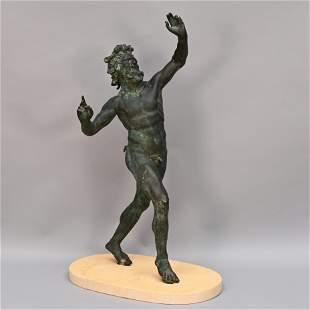 Grand Tour Sculpture, Dancing Faun at Pompeii