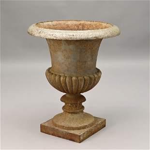 Cast Iron Campagna Form Urn