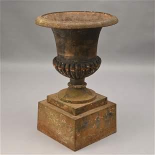 Campagna Form Urn on Plinth