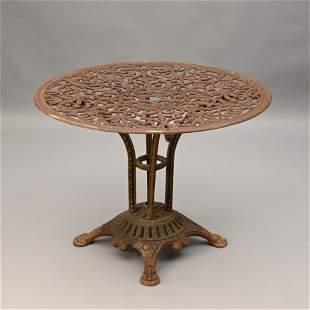 Cast Iron Pedestal Base Patio Table