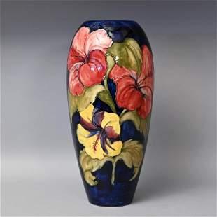Large Moorcroft Hibiscus Pattern Vase
