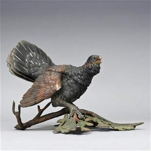 Vienna Cold Painted Bronze Figural Inkwell