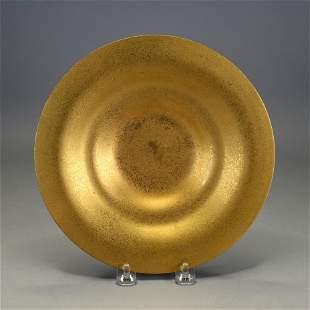 Tiffany Studios Bronze Dore Bowl, #1708