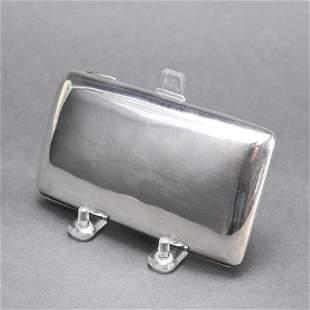 English Sterling Silver & Gold Vermeil Cigar Case