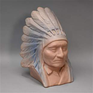 Van Briggle Pottery Bust Chief Sitting Bull, Sioux