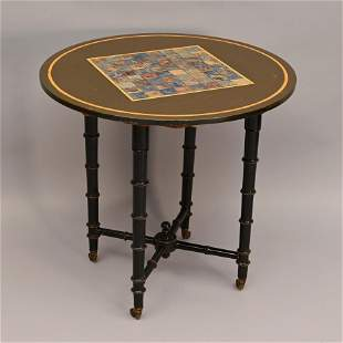 19th C. Polychrome Paint Decorated Games Table