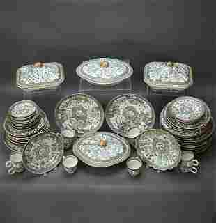 Part Set Of Chinese Famille Verte Dinnerware