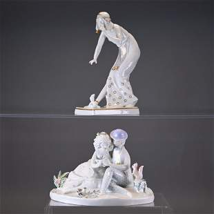 Two Rosenthal Porcelain Figurines