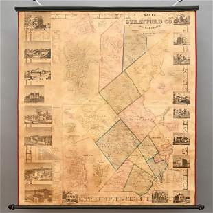 1856 Wall Map of Strafford Co., New Hampshire
