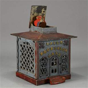 Hall's Excelsior Cast Iron Bank by J. & E. Stevens