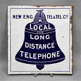 New England Telephone & Telegraph Enamel Sign