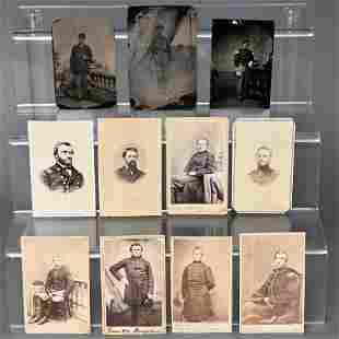 Lot of Civil War Union Soldier CDV's & Tintypes