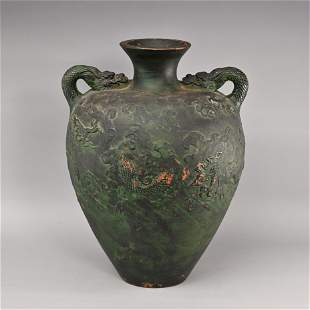 Chinese Terracotta Double-Handled Vase