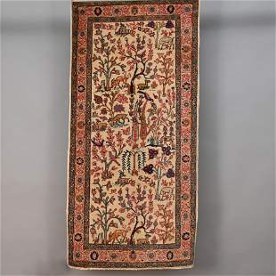 Tabriz Carpet with Animals & Figures in Landscape