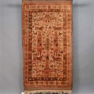 Pictorial Afghan Balouch Carpet