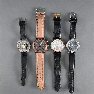 Lot of Four Gentleman's Wristwatches