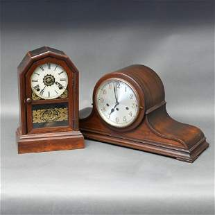 Atkins Shelf Clock Together with a Junghans