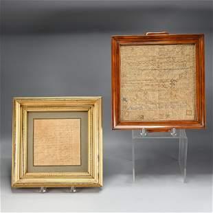19th C. Needlework Sampler and Family Register