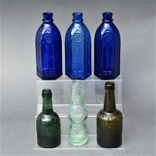 Three Carter's Ink Bottles, Together With 3 Others