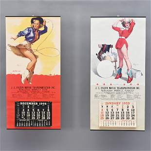 Two Pin-Up Advertising Calendars