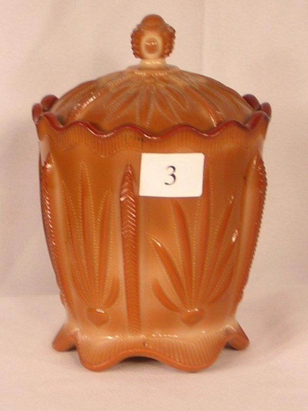 3: Chocolate Cactus Covered Cracker Jar - Greentown